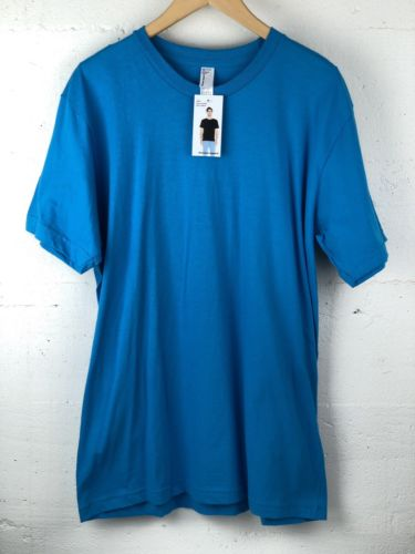 American Apparel Blue 2001 Fine Jersey Large T Shirt