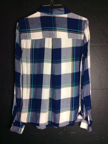 So Perfect Shirt Flannel Blue Small
