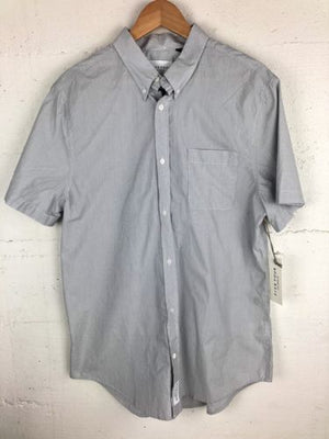Five Four Los Angeles Men's Large Short Sleeved Button Front Blue Shirt NWT