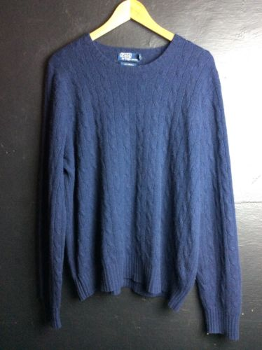 Polo Ralph Lauren Cashmere Sweater Navy XL