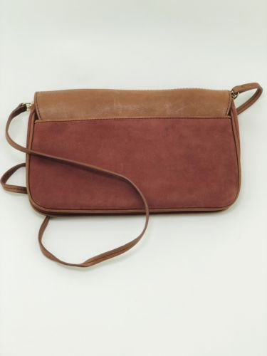 Ellen Tracey Brown Leather Clutch Purse Great Condition