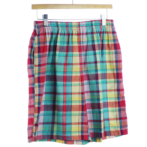 Melrose Medium Red and Green Plaid Shorts - Six 3 Shop