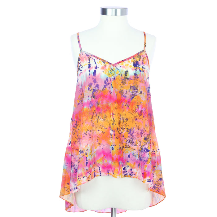 Eyeshadow Women's Small Floral Sheer Tank Top - Six 3 Shop