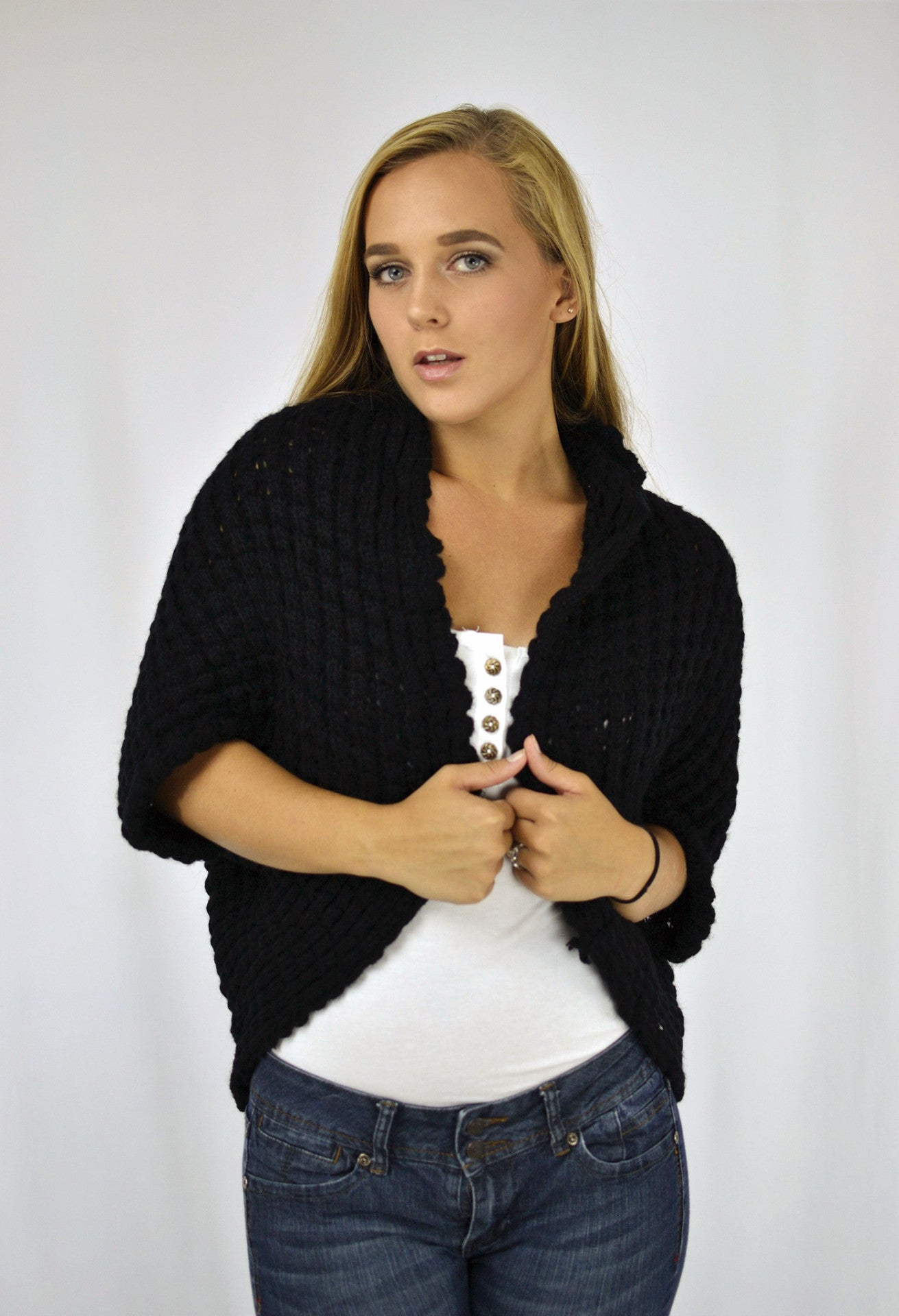 Chunky Knit Sweater Shrug Fashion Circle Boutique