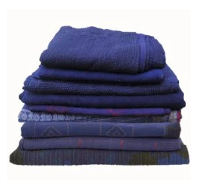 Assorted Indigo Blue Indian Kantha Quilts
