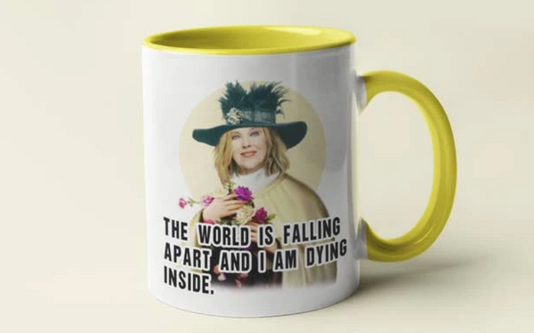 MOIRA ROSE - THE WORLD IS FALLING APART SCHITT'S CREEK COFFEE MUG