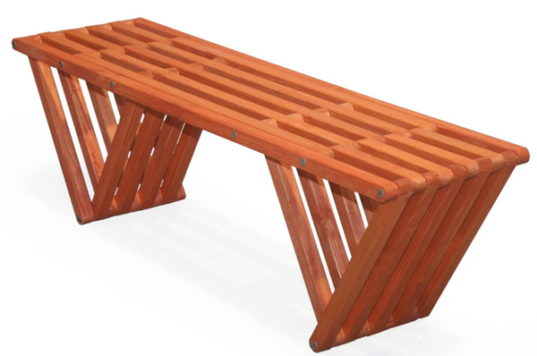 Xquare modern outdoor wooden bench