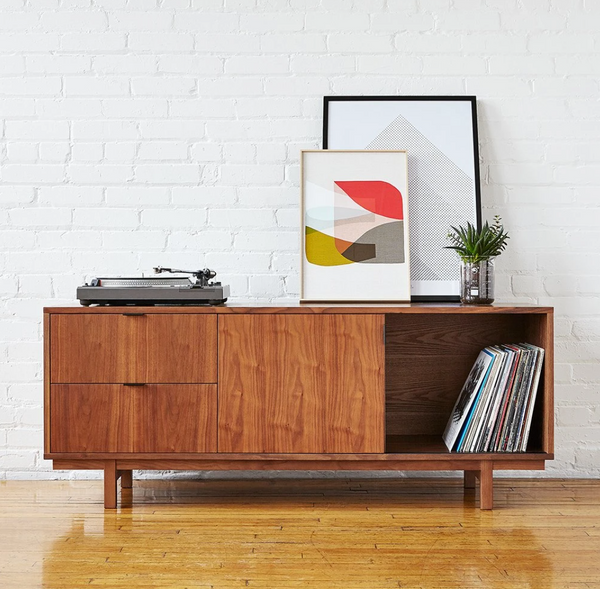 Gus* Modern Belmont Media Stand in Walnut