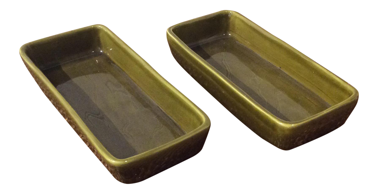 Vintage Bitossi Olive Dishes - Set of 2 | touchGOODS