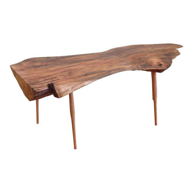 Live Edge Walnut Slab Coffee Table | touchGOODS