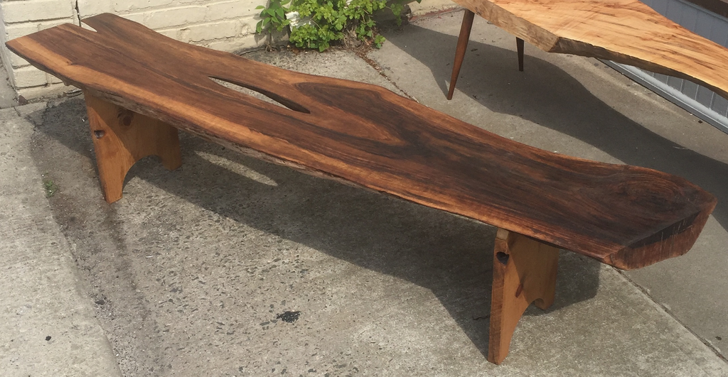 Live Edge Slab Walnut Bench or Coffee Table - touchGOODS