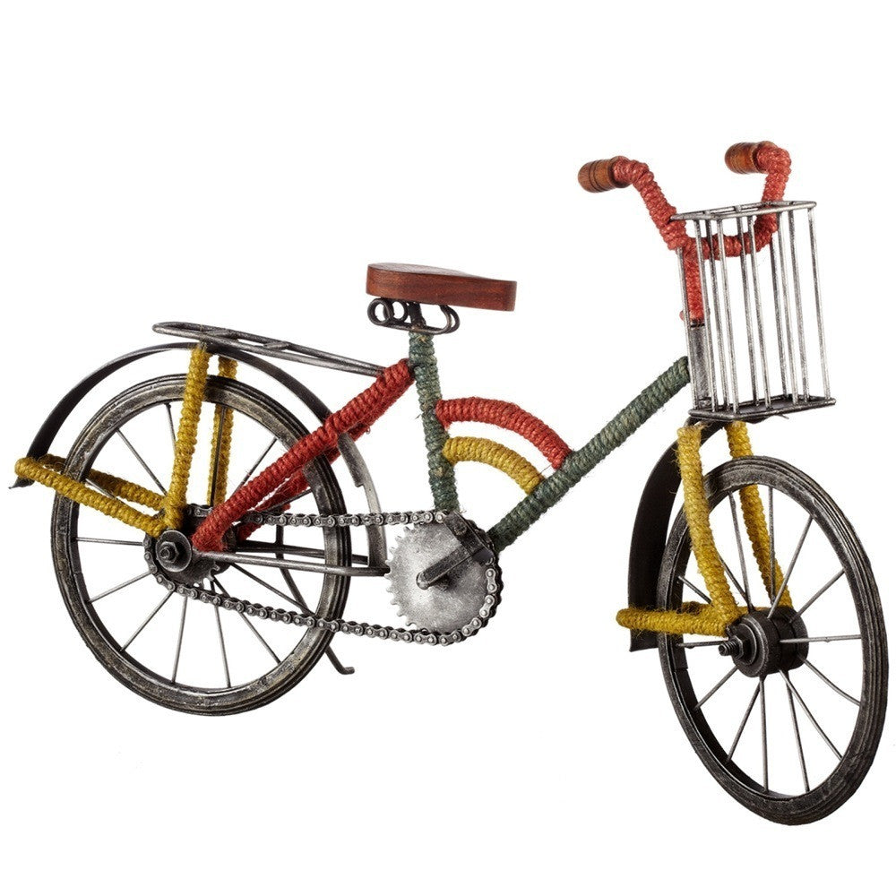 Bicycle with Basket and Jute Wrap - touchGOODS