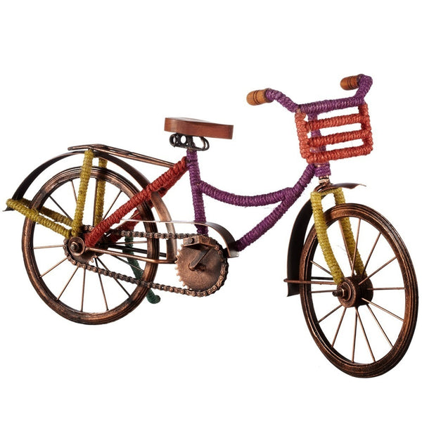 Bicycle with Multi Color Jute Wrap - touchGOODS