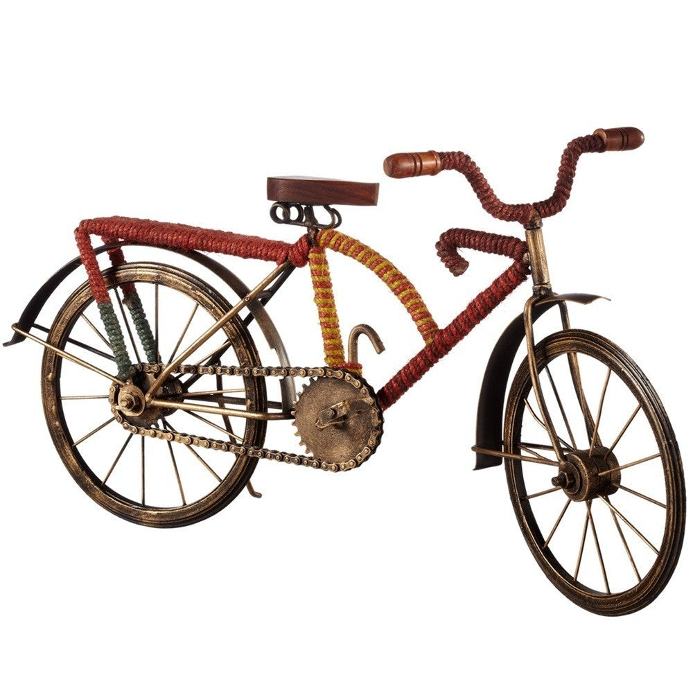 Bicycle with Red & Yellow Stripe Jute Wrap | touchGOODS
