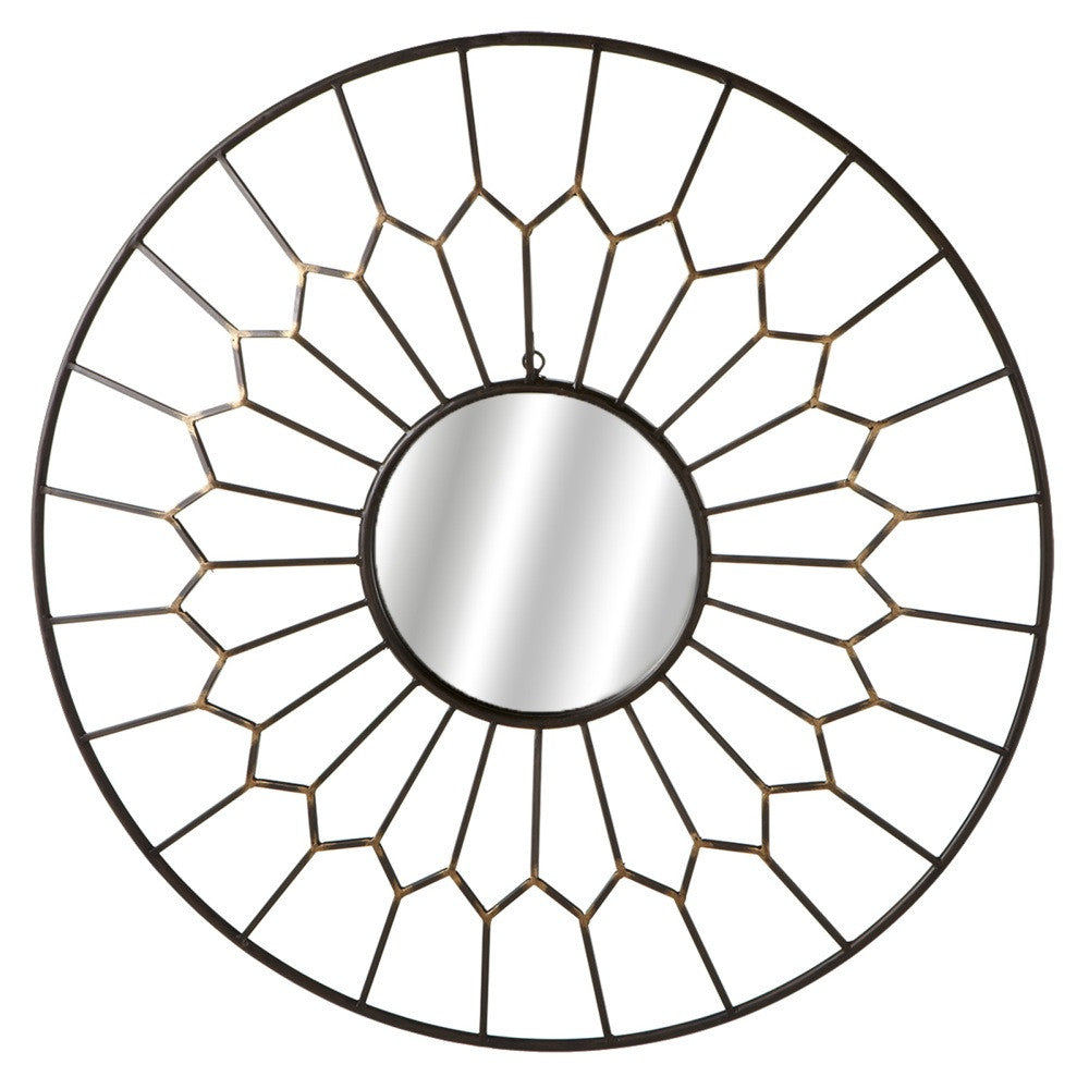 Round Geo Framed Wall Mirror - touchGOODS