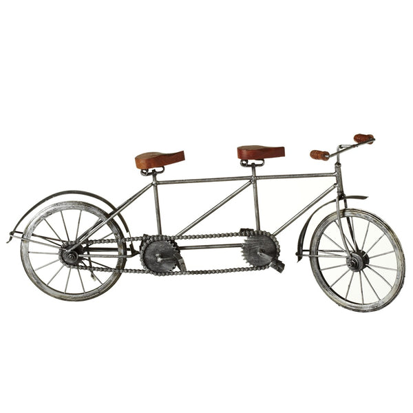 Antique Silver Tandem Bicycle - touchGOODS