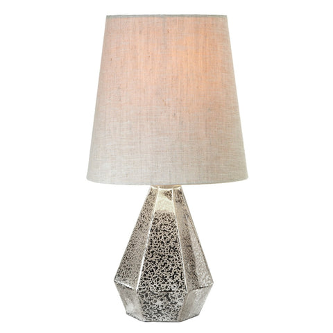 Faceted Mercury Glass Accent Lamp