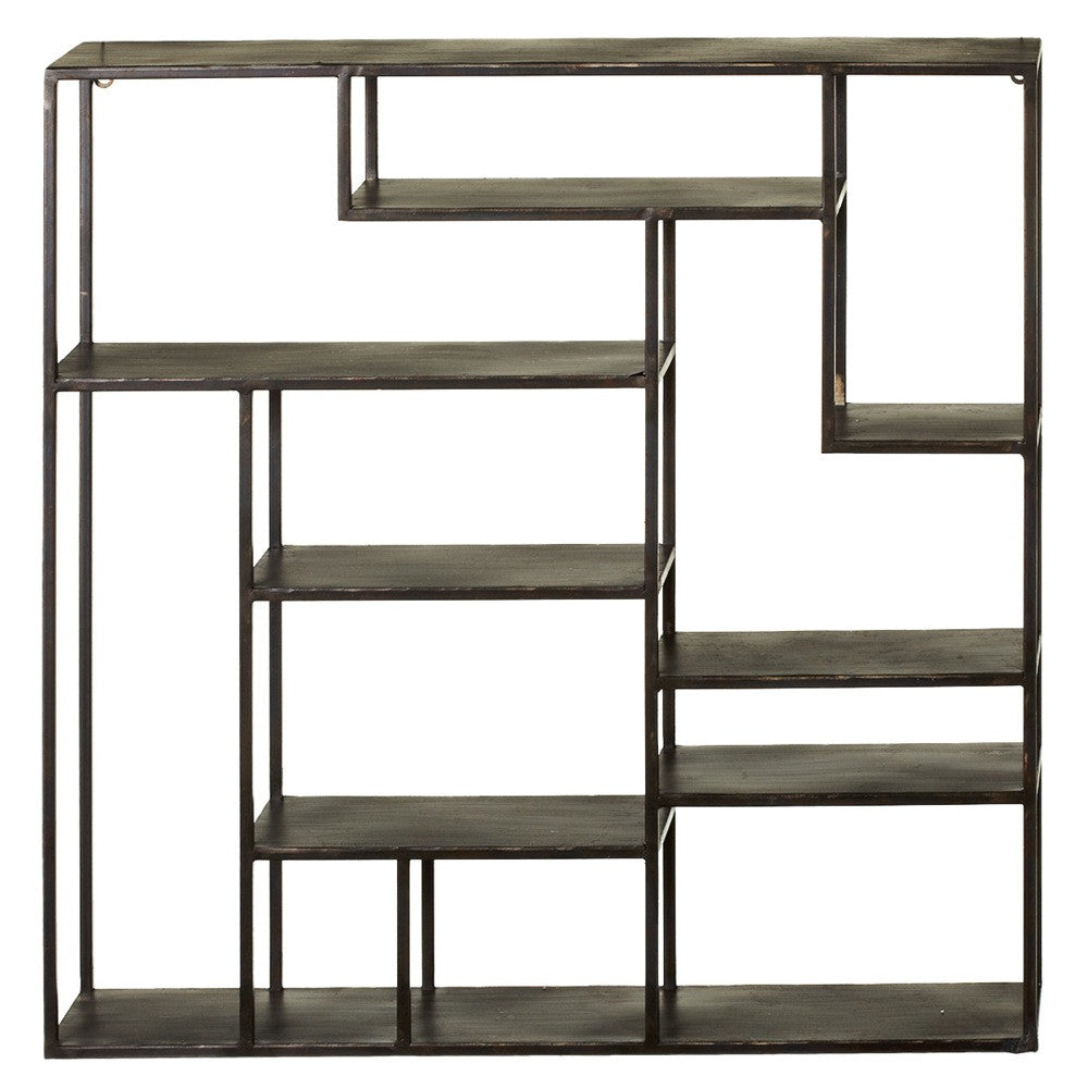 Stacked Rectangle Metal Wall Shelf | touchGOODS