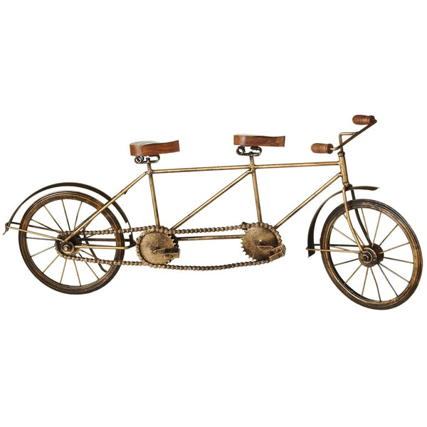 Antique Gold Tandem Bicycle - touchGOODS