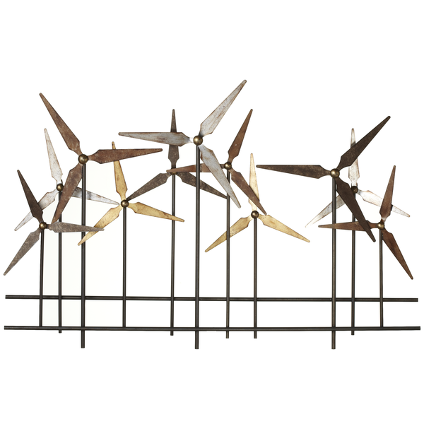Layered Windmill Metal Wall Decor | touchGOODS