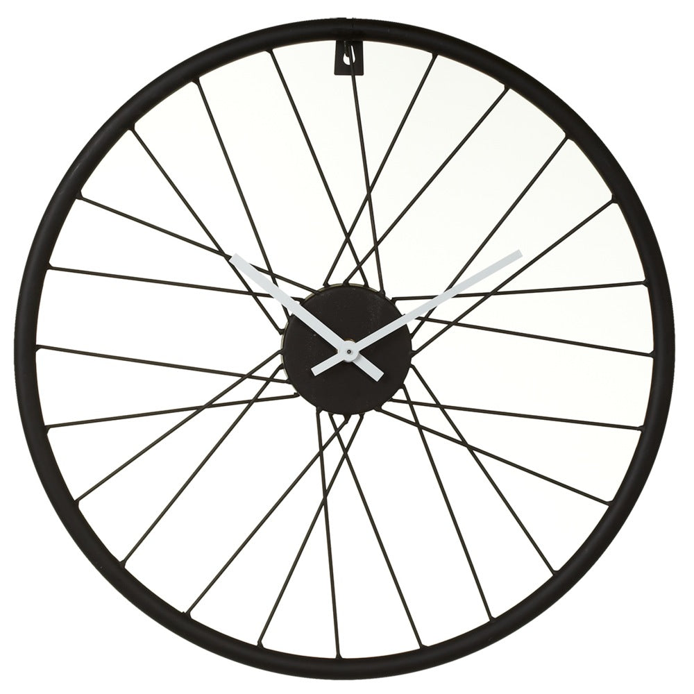 Black Bike Wheel Wall Clock. | touchGOODS