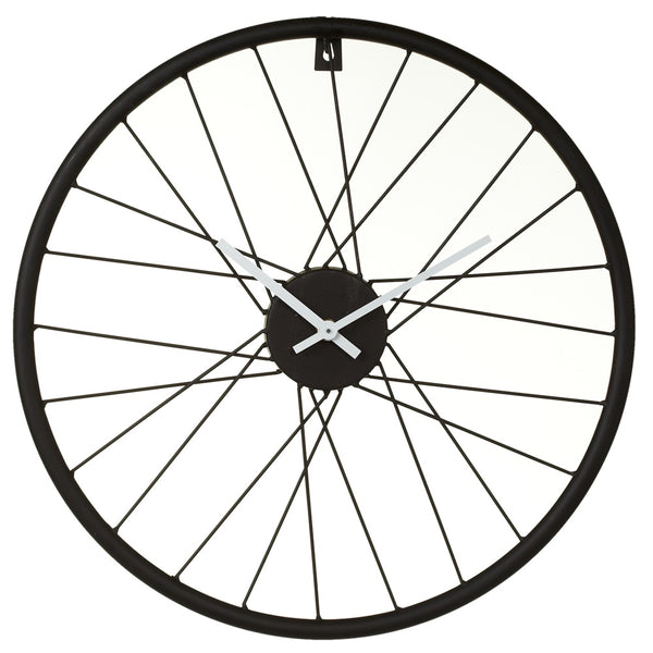 Black Bike Wheel Wall Clock. - touchGOODS