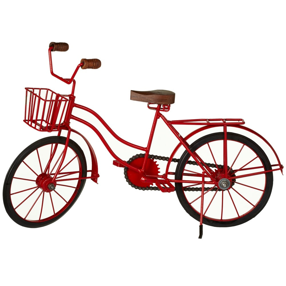 Red Bicycle with Basket | touchGOODS