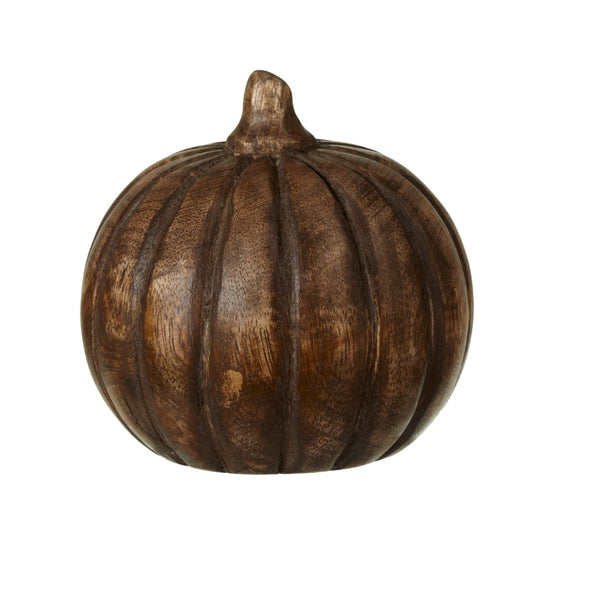 Small Carved Wood Pumpkin
