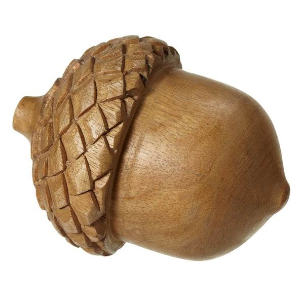 Carved Wood Acorn - touchGOODS