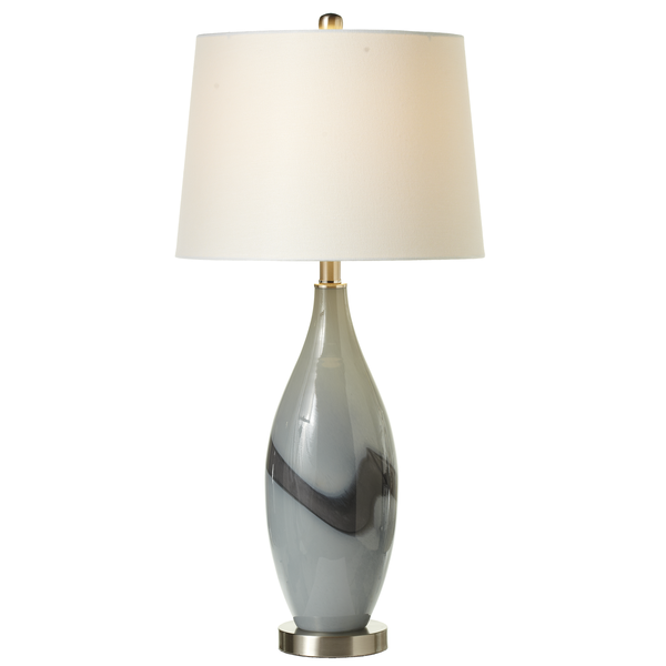 Grey Smoke Art Glass Table Lamp | touchGOODS