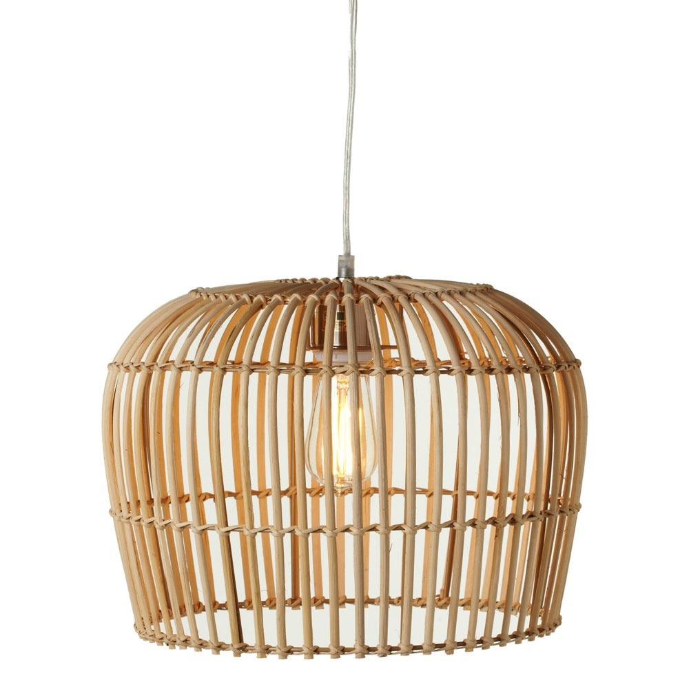 Rattan Dome Open Weave Pendant | touchGOODS