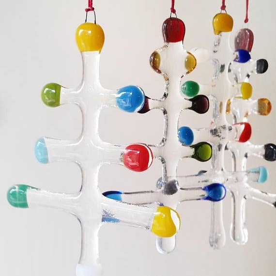 Mod Christmas Trees Ornament