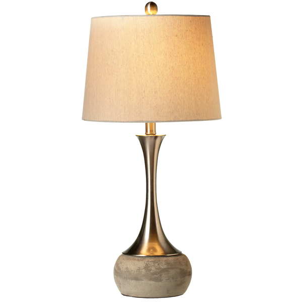 Long Neck Brushed Silver Table Lamp