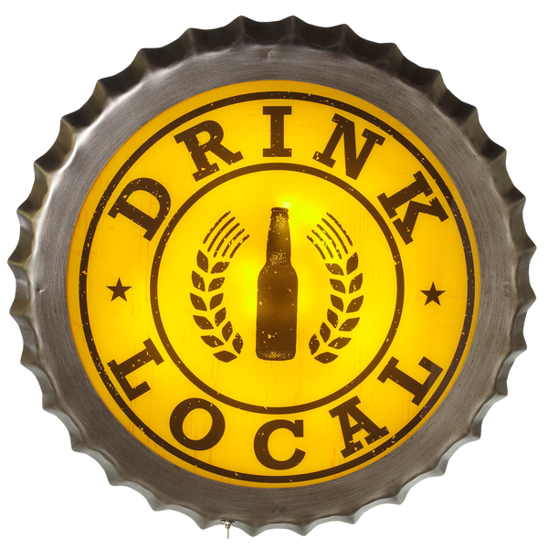 Drink Local Beer Sign LED Lighted Wall Decor | touchGOODS