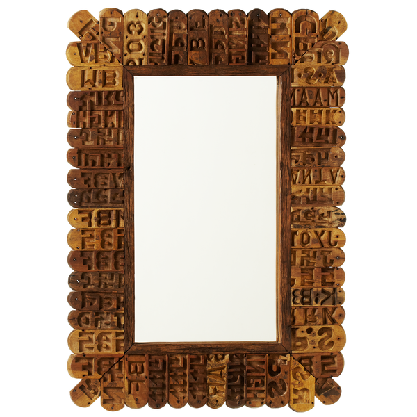 Reclaimed Brick Mold Stamp Wall Mirror | touchGOODS