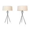 Mid-Century Modern Tripod Table Lamps - A Pair - touchGOODS
