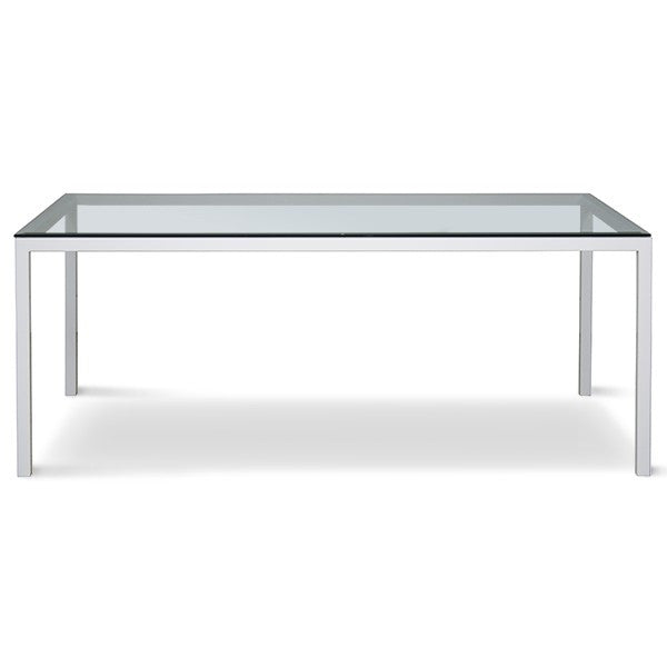 Custom Parson Dining Table With Glass Top - touchGOODS