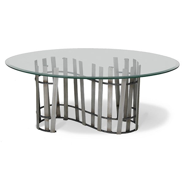Dunes Coffee Table With Glass Top - touchGOODS