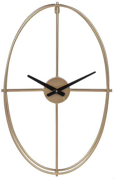 Gold Oval Wall Clock | touchGOODS
