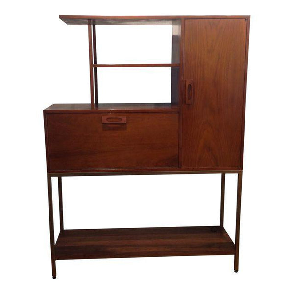 Vintage Mid-Century Drop-Down Bar Cabinet