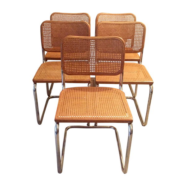 "5 ""Cesca"" Side Chairs by Marcel Breuer for Knoll - touchGOODS"