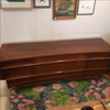 Vladimir Kagan Inspired Walnut Curved Credenza - touchGOODS
