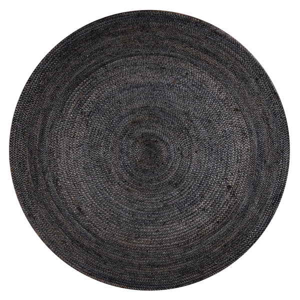 Hand Loomed Solid Daisy Jute 5' Round Rug | touchGOODS