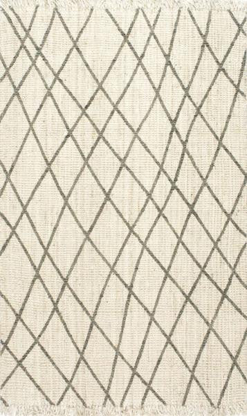 Handwoven Lattice Area Rug 100% Jute - 3 x 5 - touchGOODS