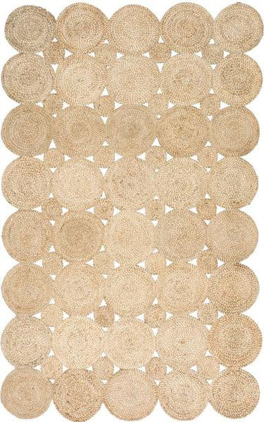 Hand Woven Area Rug 100% Jute - 5 x 8 - touchGOODS