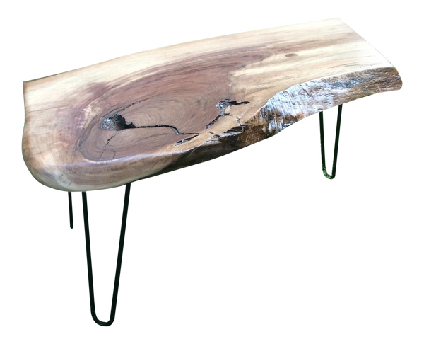 Live Edge Slab Walnut Slab Coffee Table | touchGOODS