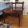 Lane Walnut 2 Tier Side Table - touchGOODS