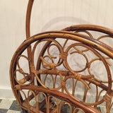 Large Vintage Rattan Magazine Rack - touchGOODS