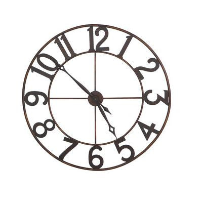 Antique Copper & Iron Wall Clock - touchGOODS