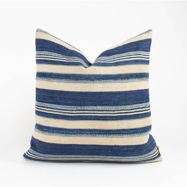 Speke Striped Indigo Pillow